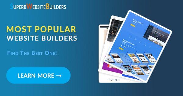 Most popular website builders
