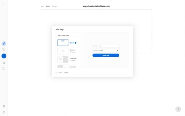 portfolio adobe new page