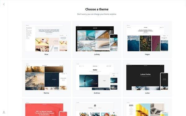 portfolio adobe theme