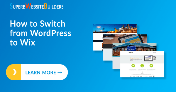Switching from WordPress to Wix