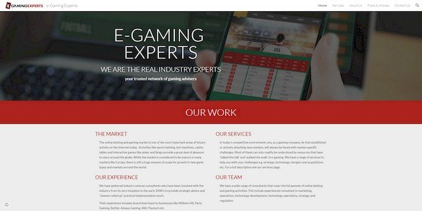 E-gaming Experts - online gaming and betting