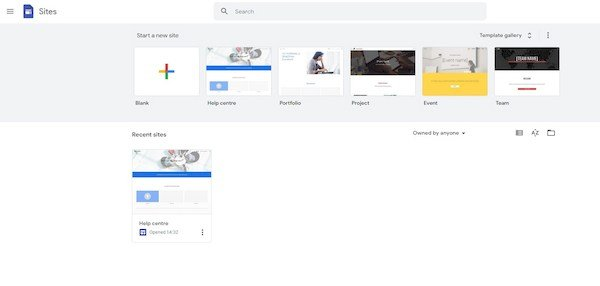Google Sites Projects