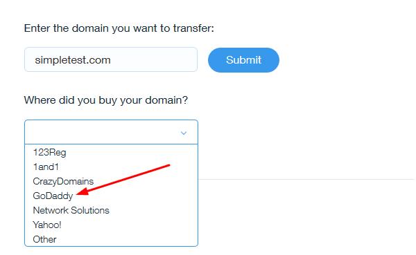 Step 2 - Choose GoDaddy