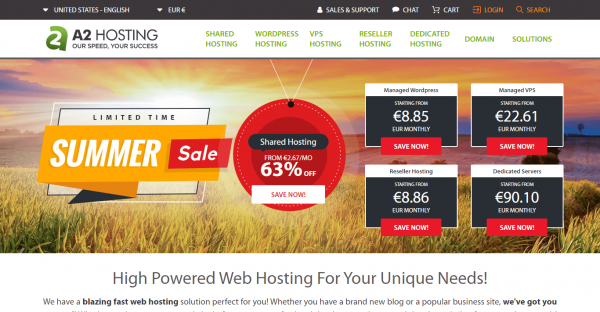 A2Hosting – One of The Fast Web Hosting in the World
