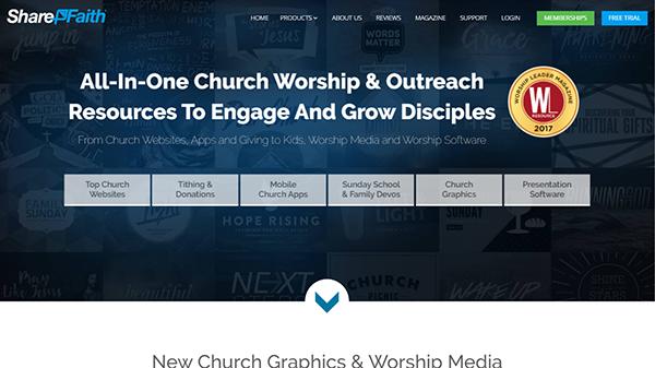 Sharefaith - Easy to Use Church Website Builder