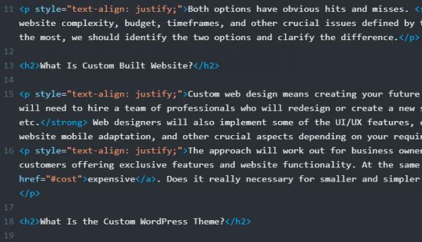 Text code editing