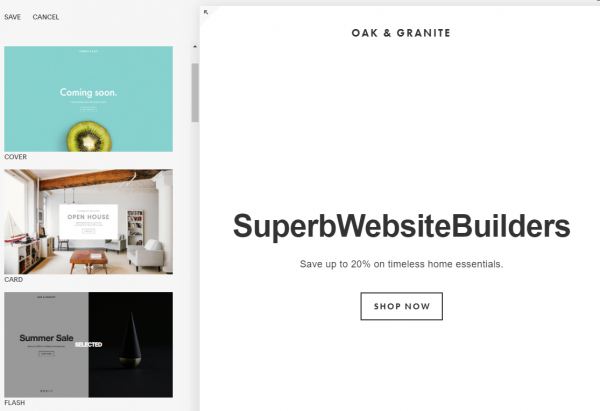 Squarespace Cover Page Builder