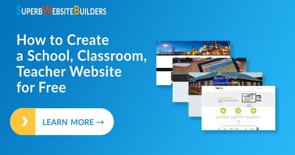 How to Create a School/Classroom/Teacher Website for Free