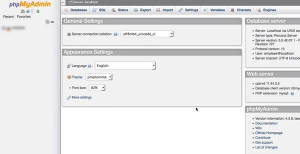 New MySQL database