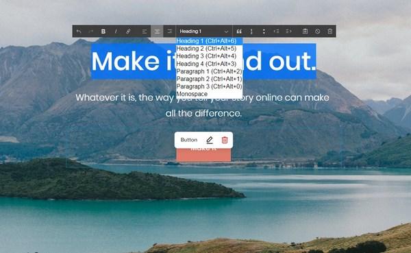 Squarespace Page Editor