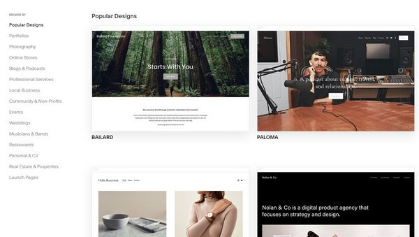 Squarespace Responsive Templates