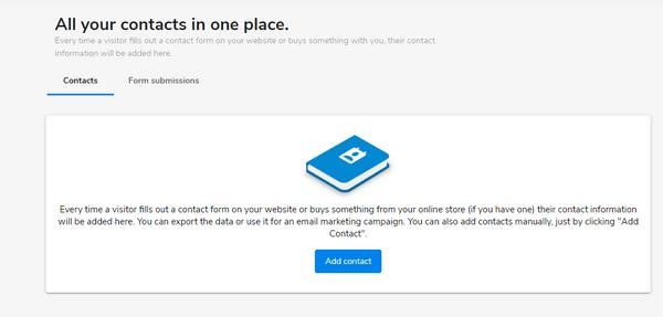 WebsiteBuilder Contacts CRM