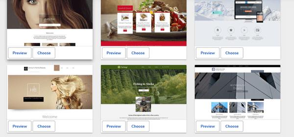 WebsiteBuilder templates