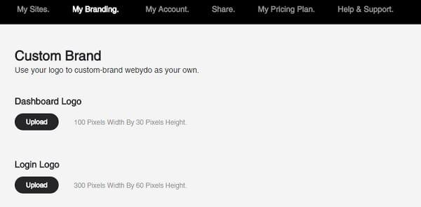Webydo site setting