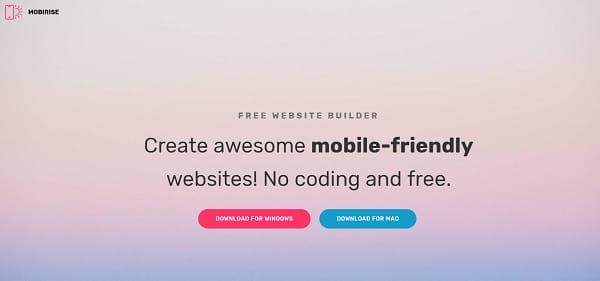 Mobirise – Offline Website Building Program (Mac & Windows)