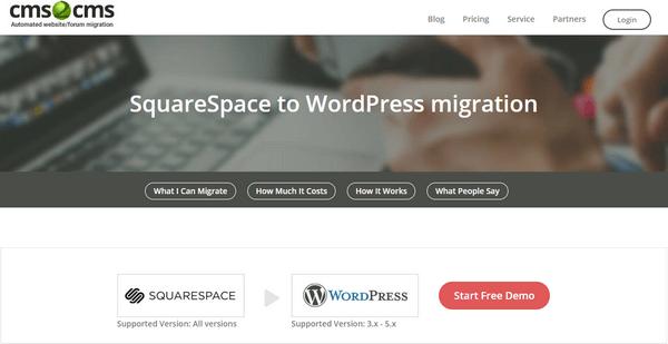 CMS2CMS Squarespace to WordPress