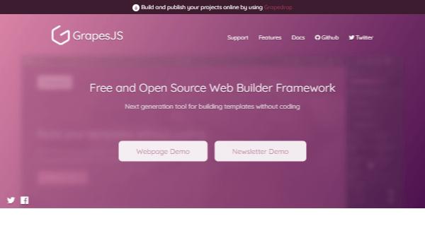 GrapesJS - Multi-Purpose Open-Source Web Builder Framework