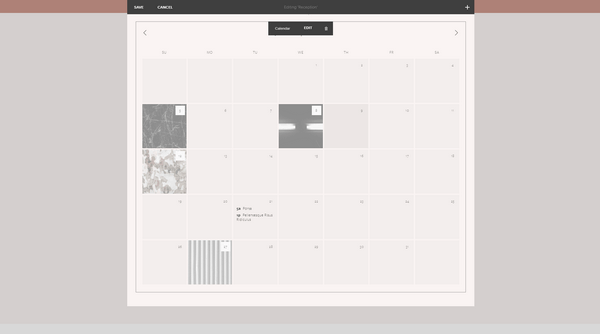 Jimdo Calendar