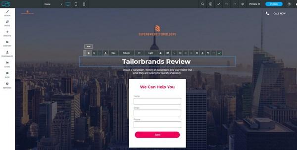 Tailor Brands Editor