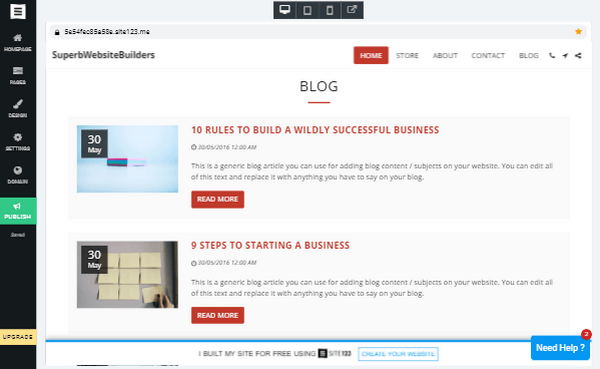 Site123 Blog