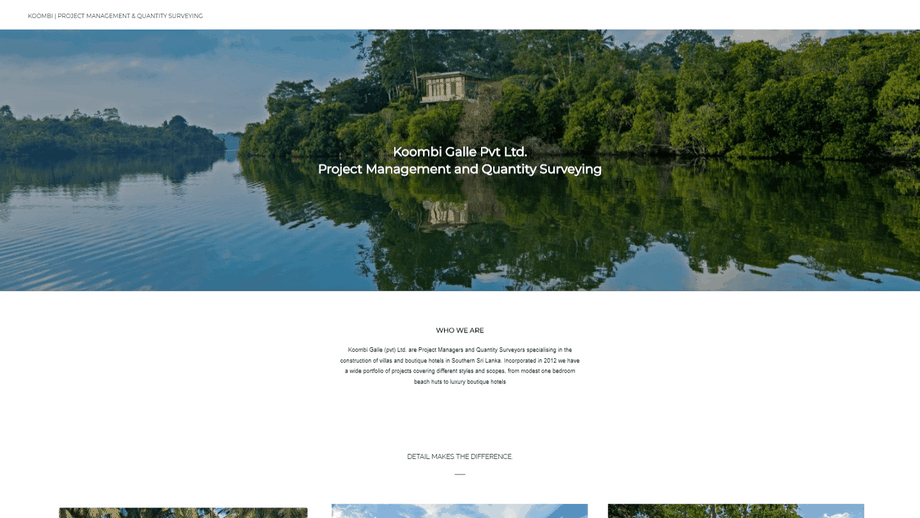 Project Management and Photographer website