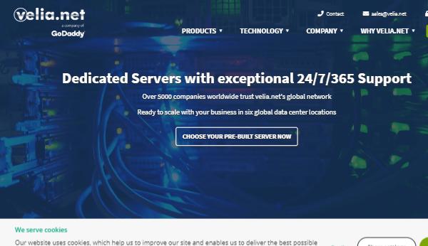 Velia (Godaddy) - UK Dedicated Windows & Linux Servers