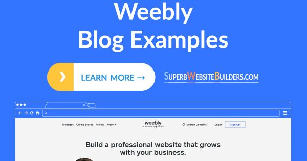 Best Weebly Blog Examples