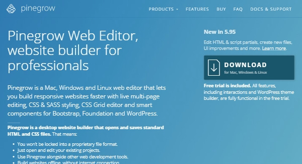 Pinegrow – Alternative Web Editor for Professionals