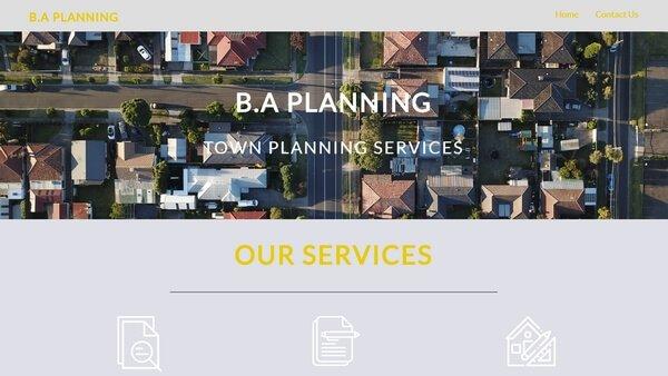 B.A. Planning