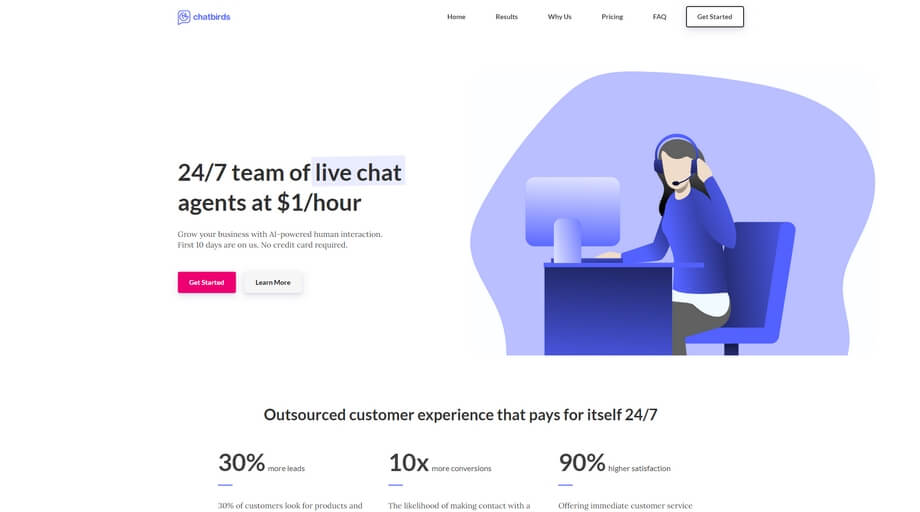 Chatbirds Startup Website