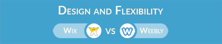Wix vs Weebly: Design and Flexibility
