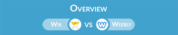 Wix vs Weebly: General Overview