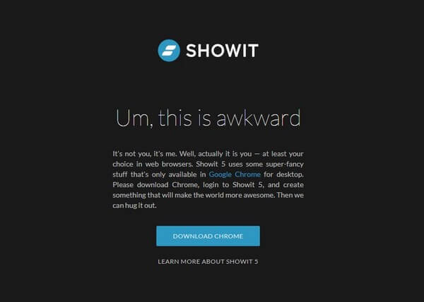Showit download chrome