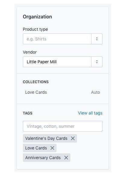 Shopify organization