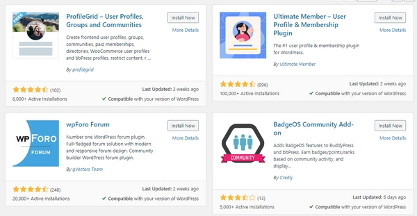 WordPress Community plugins