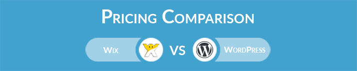 Wix vs WordPress: General Pricing Comparison