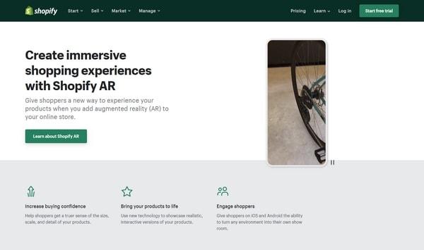 AR Shopify