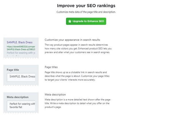Ecwid Product Page SEO