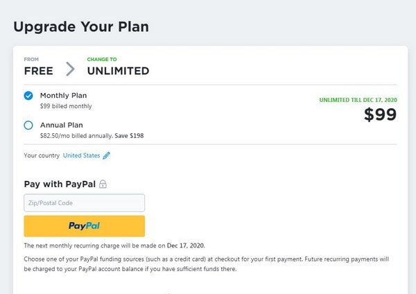 Ecwid Unlimited Plan