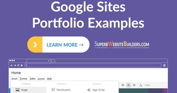 Google Sites Portfolio Examples