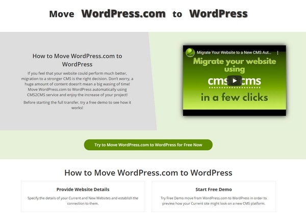 Move WordPress.com to WordPress