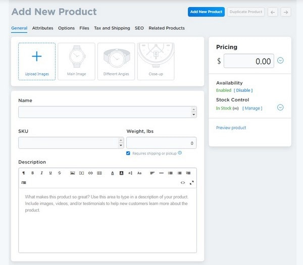add new products