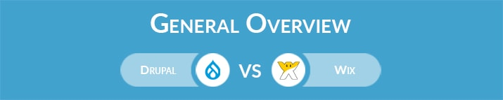 Drupal vs Wix: General Overview
