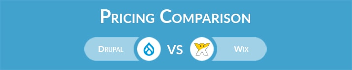 Drupal vs Wix: General Pricing Comparison