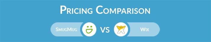 SmugMug vs Wix: General Pricing Comparison