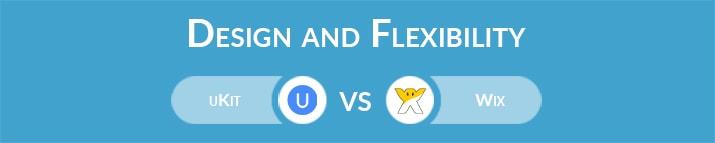 uKit vs Wix: Design and Flexibility