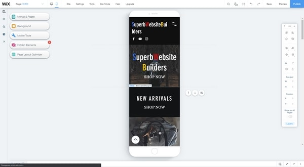 wix mobile editor