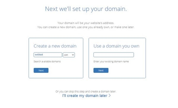 Bluehost Set Up Your Domain