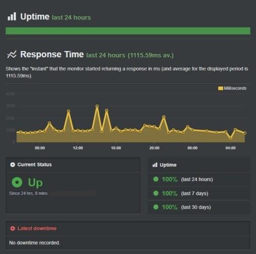 Hostinger Uptime Rate