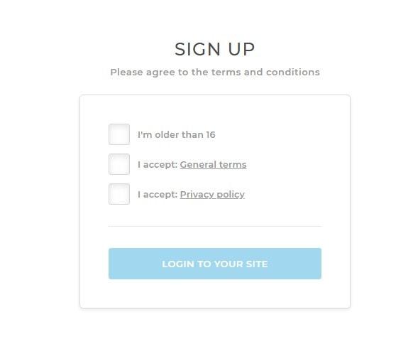 Portfoliobox Sign Up Step 2
